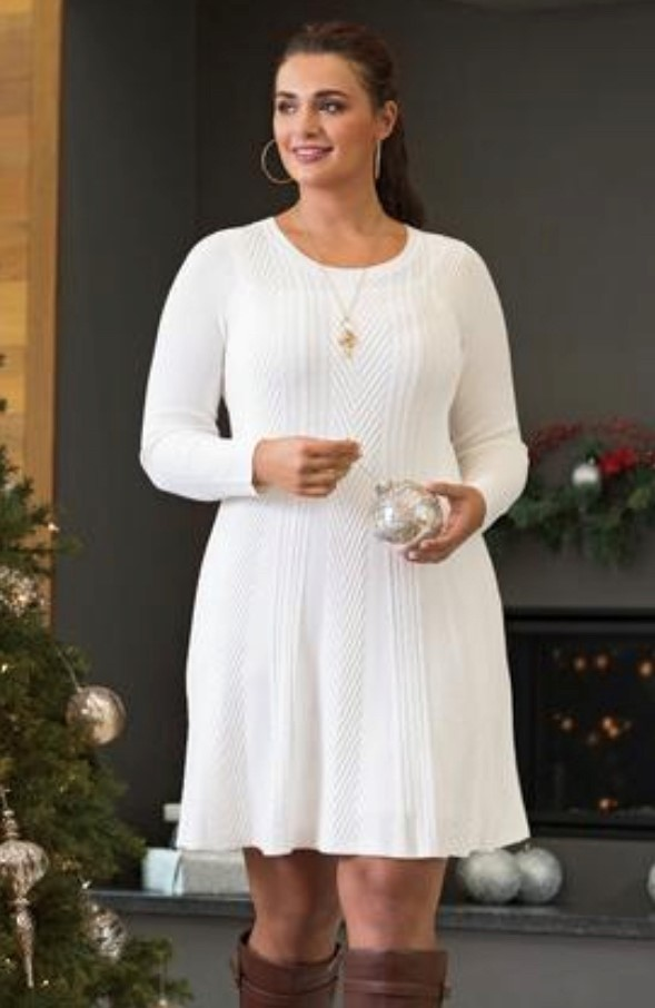 Ivory Cable Knit Dress